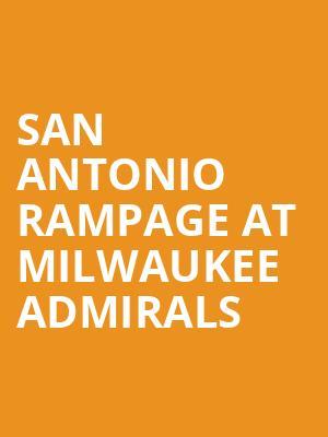 Uwm Calendar 2020 San Antonio Rampage at Milwaukee Admirals Tickets Calendar   Feb