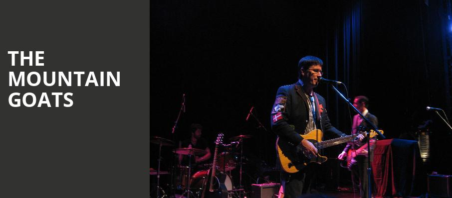 The Mountain Goats, Pabst Theater, Milwaukee